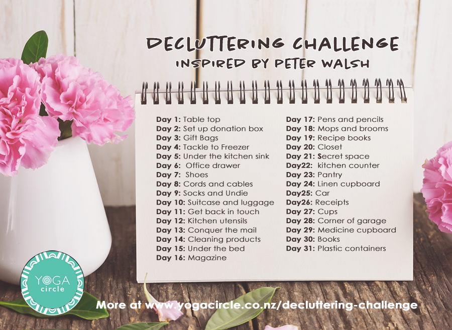 decluttering challenge inspired by Peter Walsh